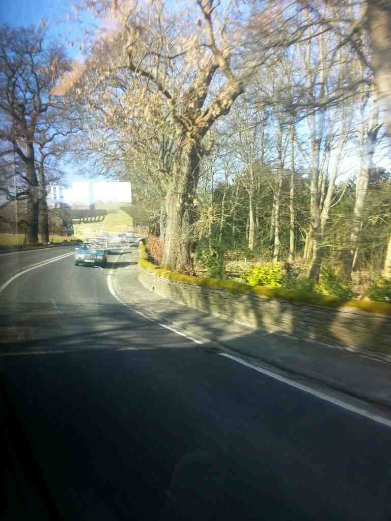 A6 between Rowsley and Bakewell on a Transpeak bus