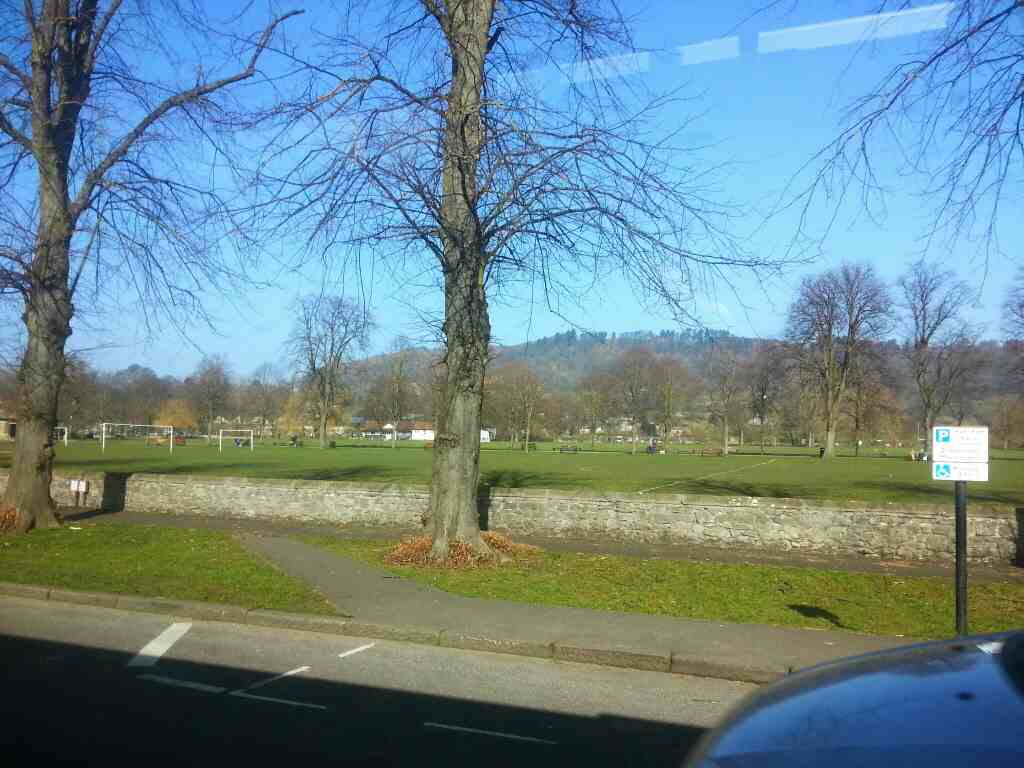 Passing Bakewell Park on a Transpeak bus