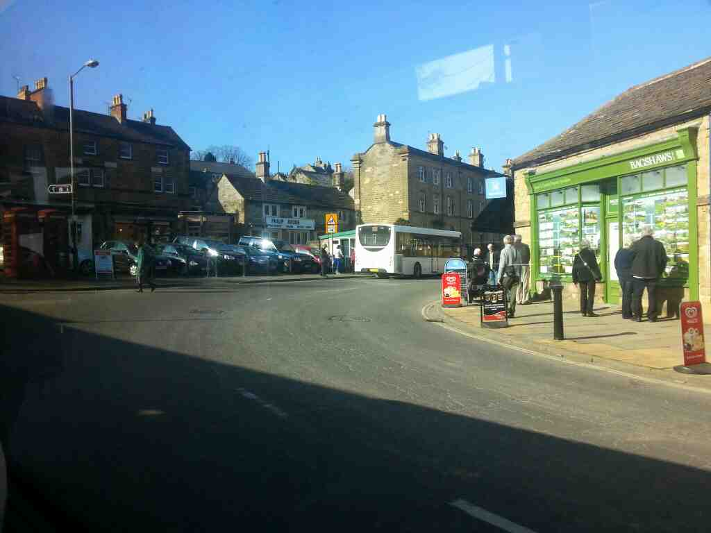 North Church St the A6 Bakewell off a Transpeak bus