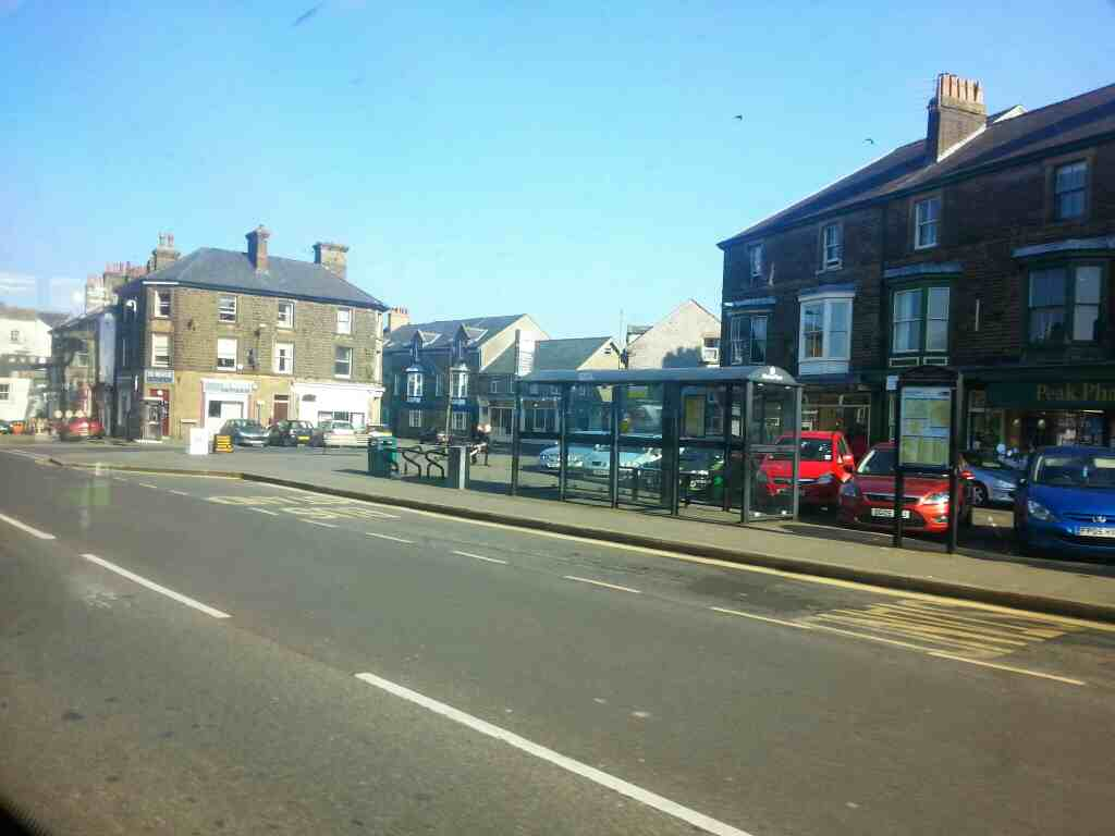 Market Place High St Buxton on a Transpeak bus