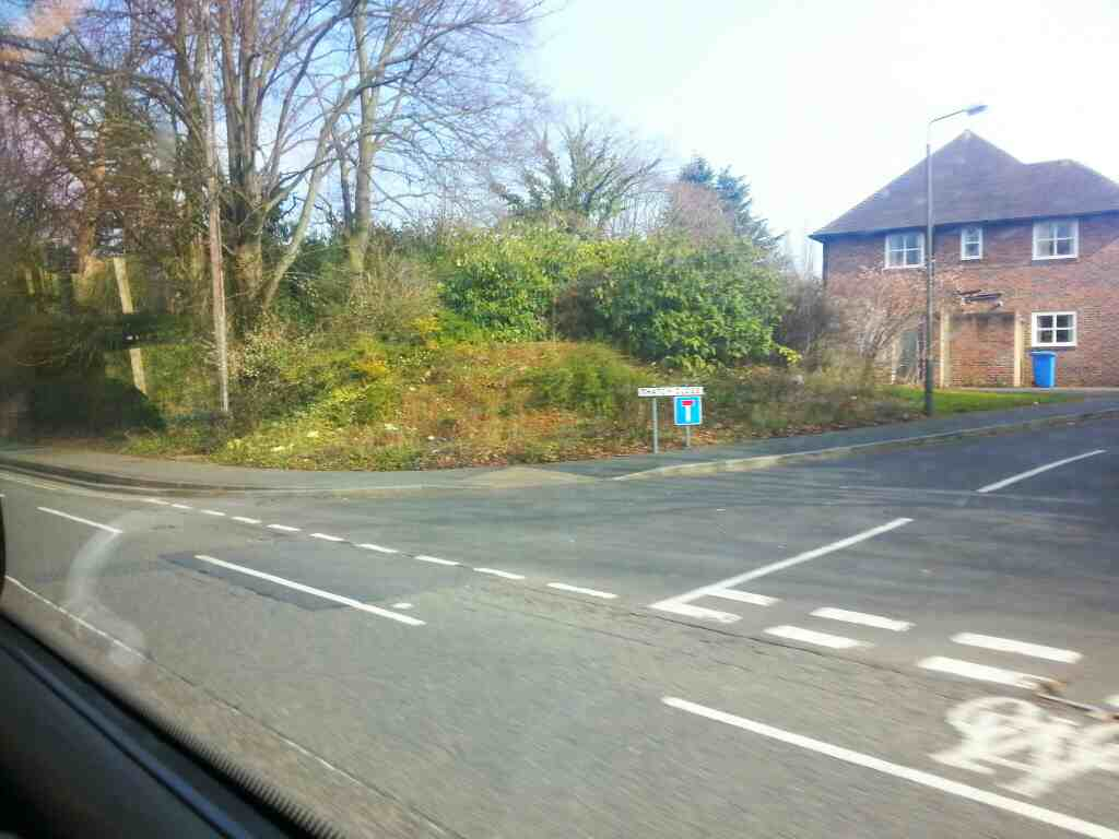 Junction of Thatch Close and Duffield Rd the A6 Darley Abbey off a Transpeak bus