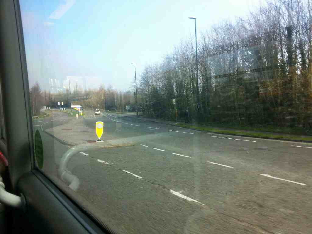 A6 Duffield Rd Approaching the Derby Ring Road A38 Abbey Hill on a Transpeak bus