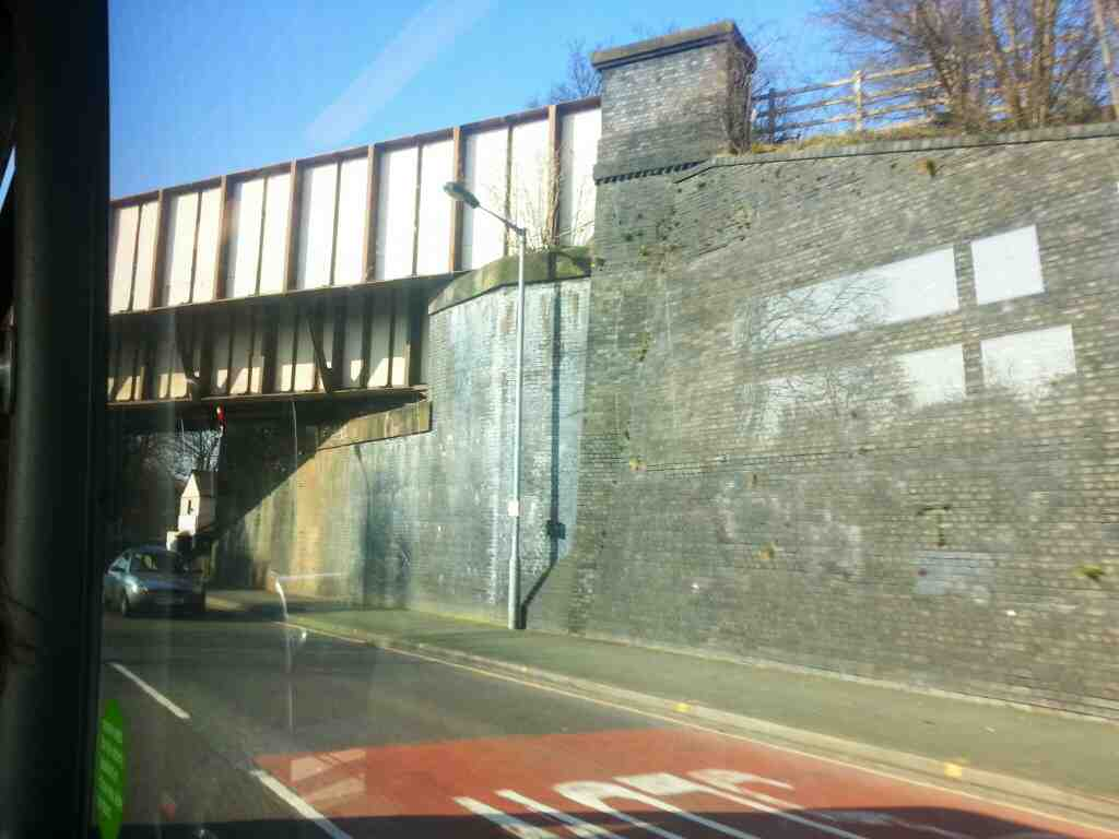 Passing under the main Sheffield to Stockport a Manchester Railway Hazel Grove on Buxton Rd the A6