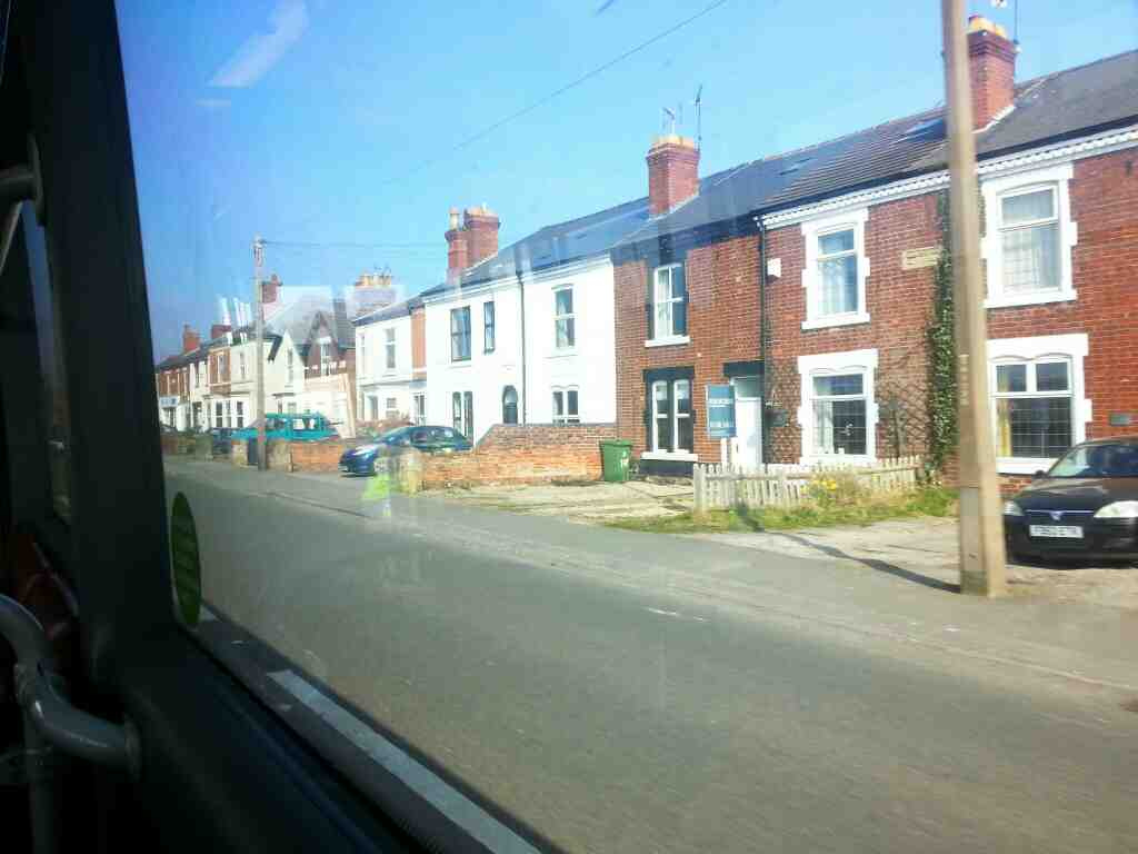 Heading into Duffield on a Transpeak Manchester bound bus