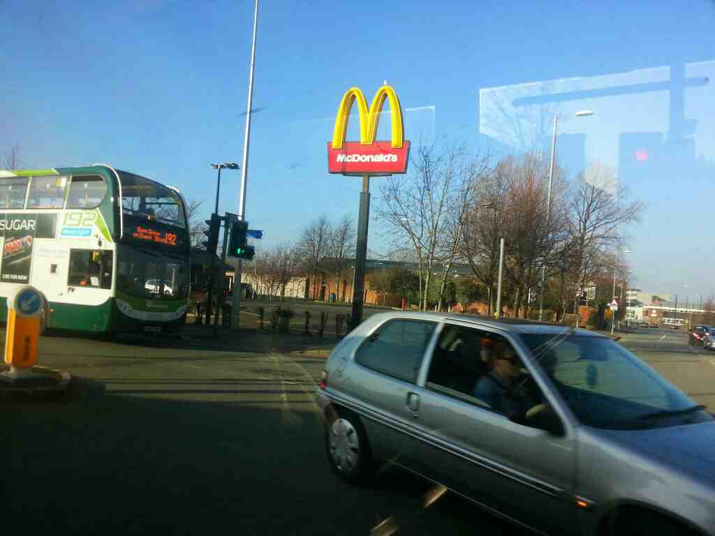 Ardwick Green branch of Mc Donalds junction of Devonshire St and Stockport Rd the A6