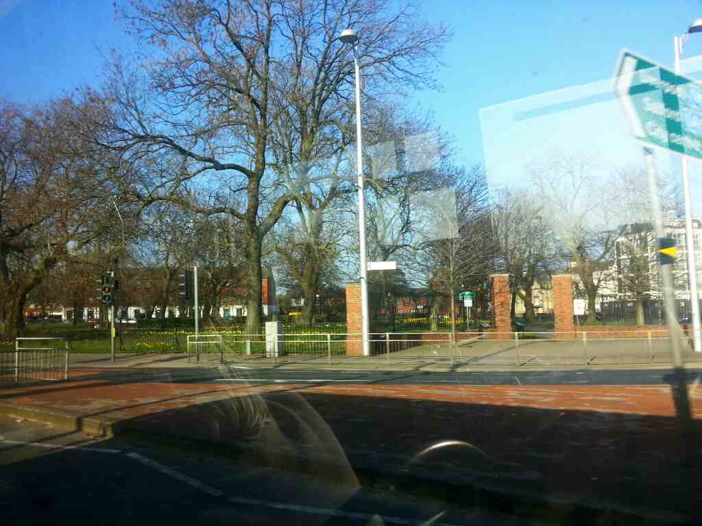 Ardwick Green Park passed on a Transpeak bus