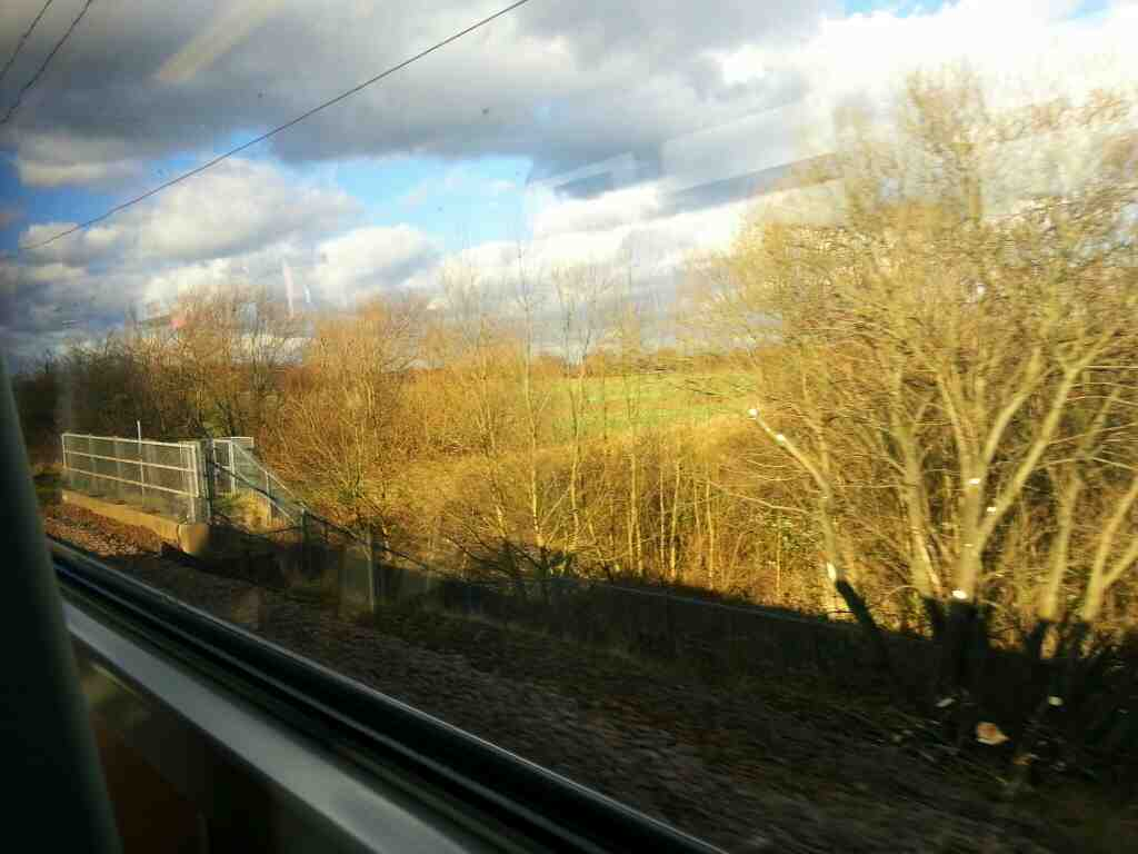 Picking up speed between Doncaster and Bentley on train bound for Leeds
