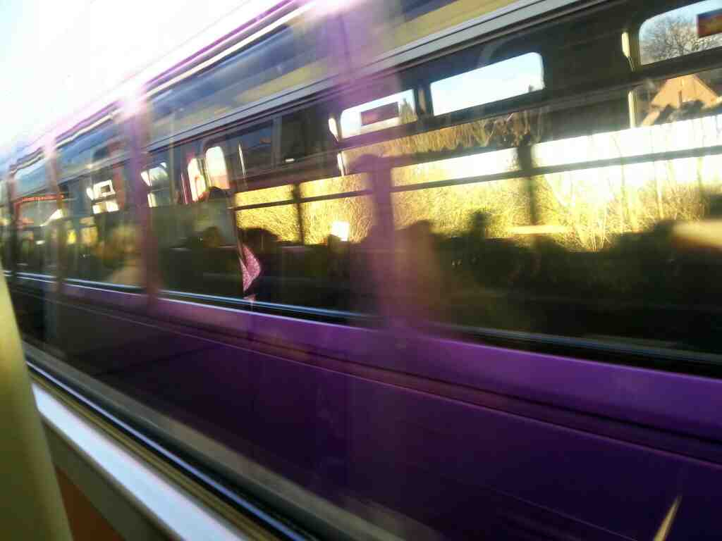 Pulling out of Outwood on a Northern Rail Doncaster to Leeds train
