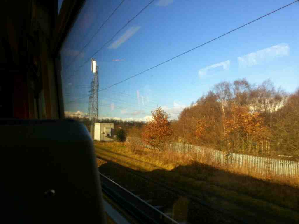 Heading away from Outwood on a Northern Rail Doncaster to Leeds train