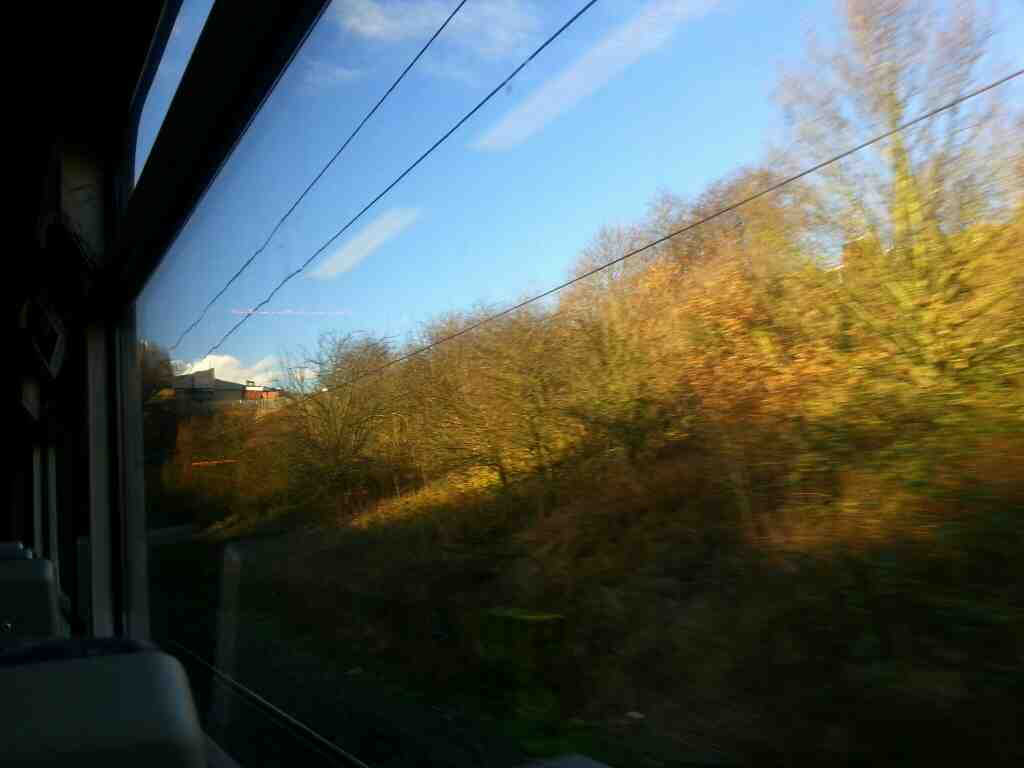 Between Outwood and Leeds on a Northern Rail Doncaster to Leeds train