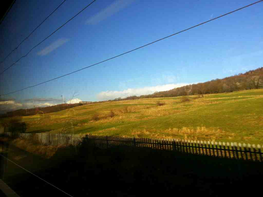 Starting our Descent into Leeds from north of Outwood on a Northern Rail Doncaster to Leeds train