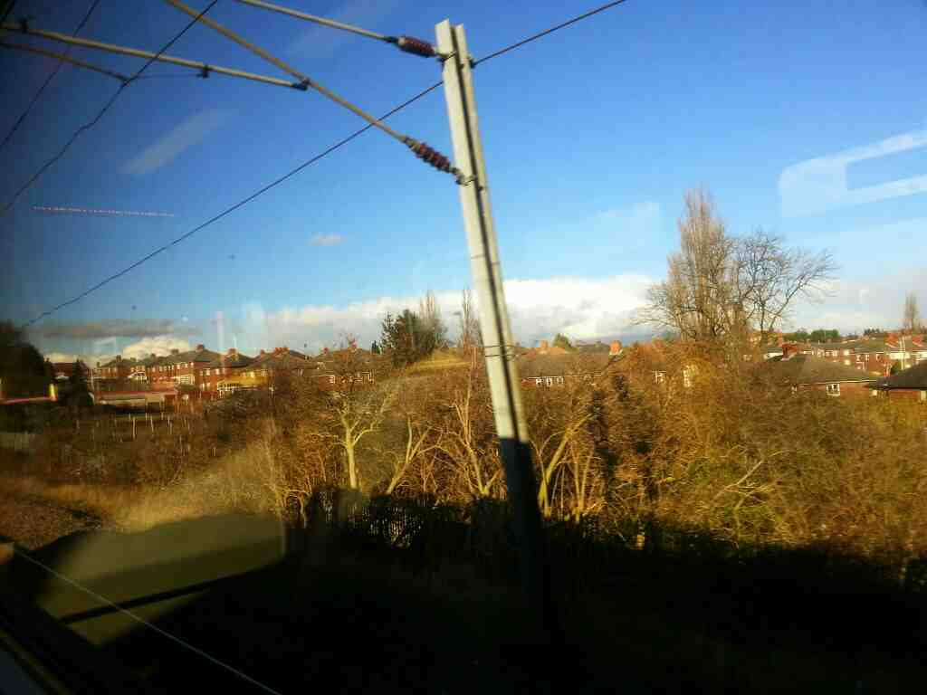 Suburban Leeds on a Northern Rail Doncaster to Leeds train