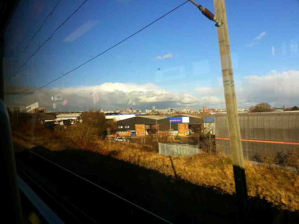 The Leeds Skyline on a Northern Rail Doncaster to Leeds train