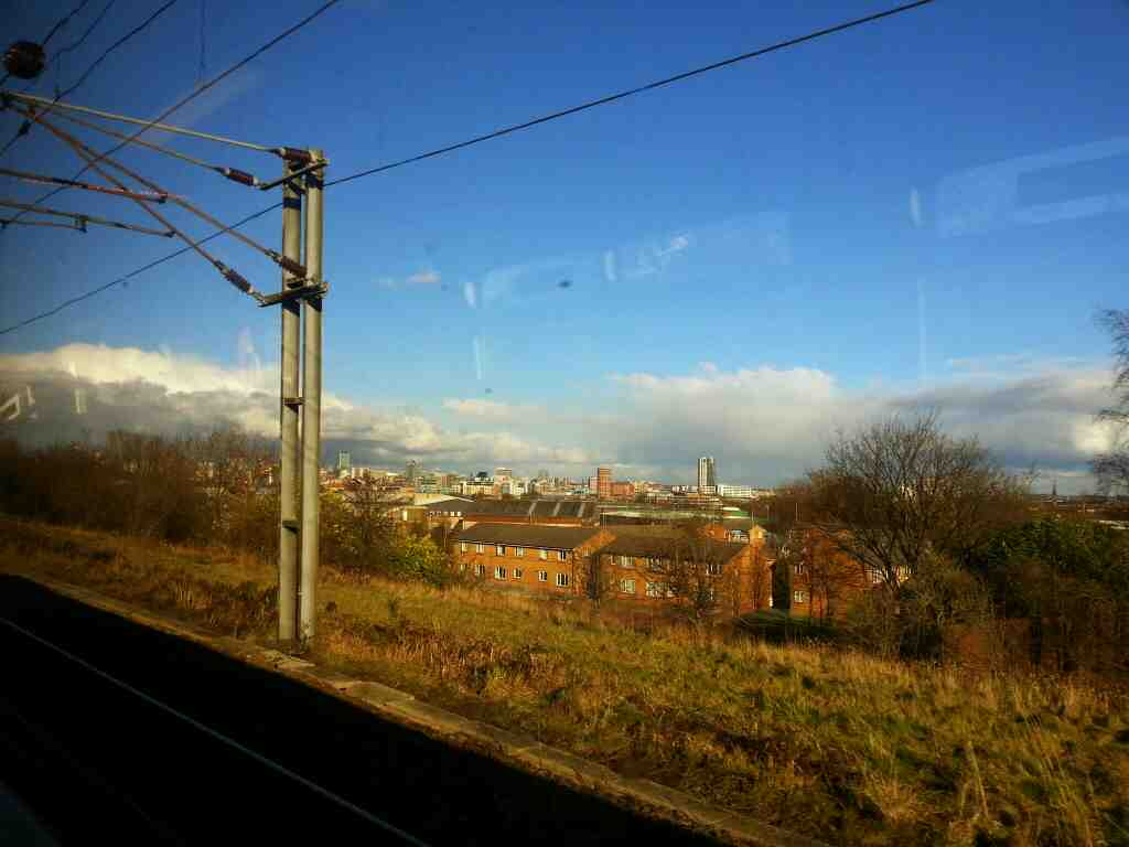 Leeds city centre skyline getting ever closer on a Northern Rail Doncaster to Leeds train