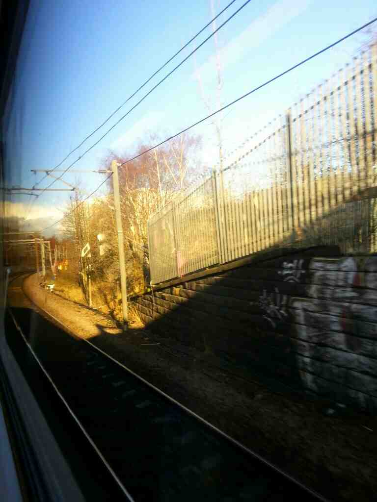 Slowing down as we make our approach to Leeds on a Northern Rail Doncaster to Leeds train
