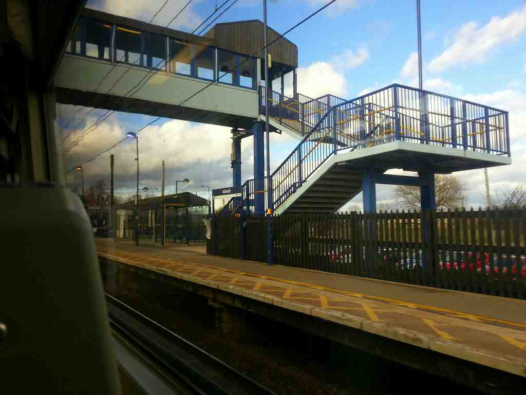 Arriving at Adwick on a Doncaster to Leeds train