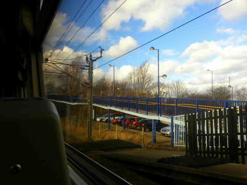 Pulling away from Adwick on a Northern Rail Doncaster to Leeds train