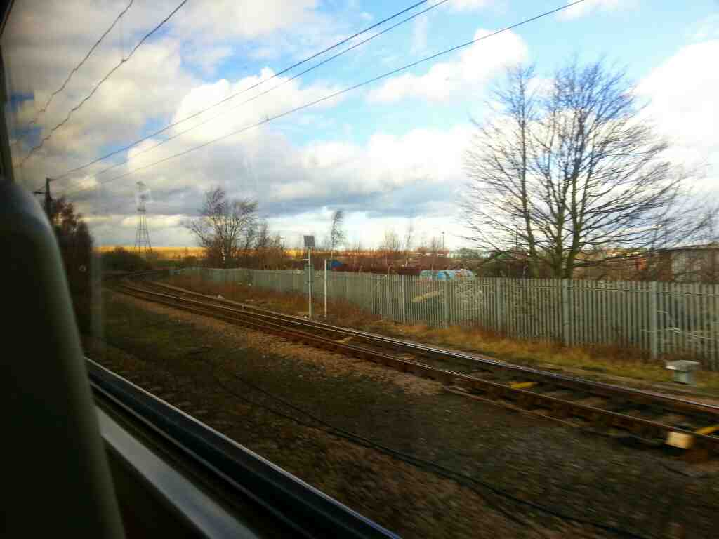 Railway Junction Adwick off a Doncaster to Leeds train