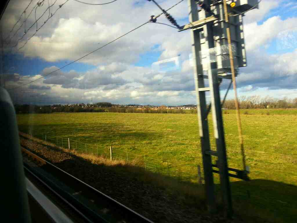 Heading away from Adwick on a Northern Rail Doncaster to Leeds train