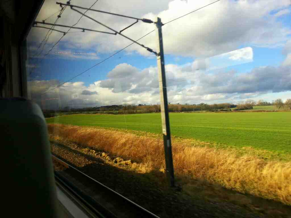 Between Adwick and South Elmsall on a Northern Rail Doncaster to Leeds train