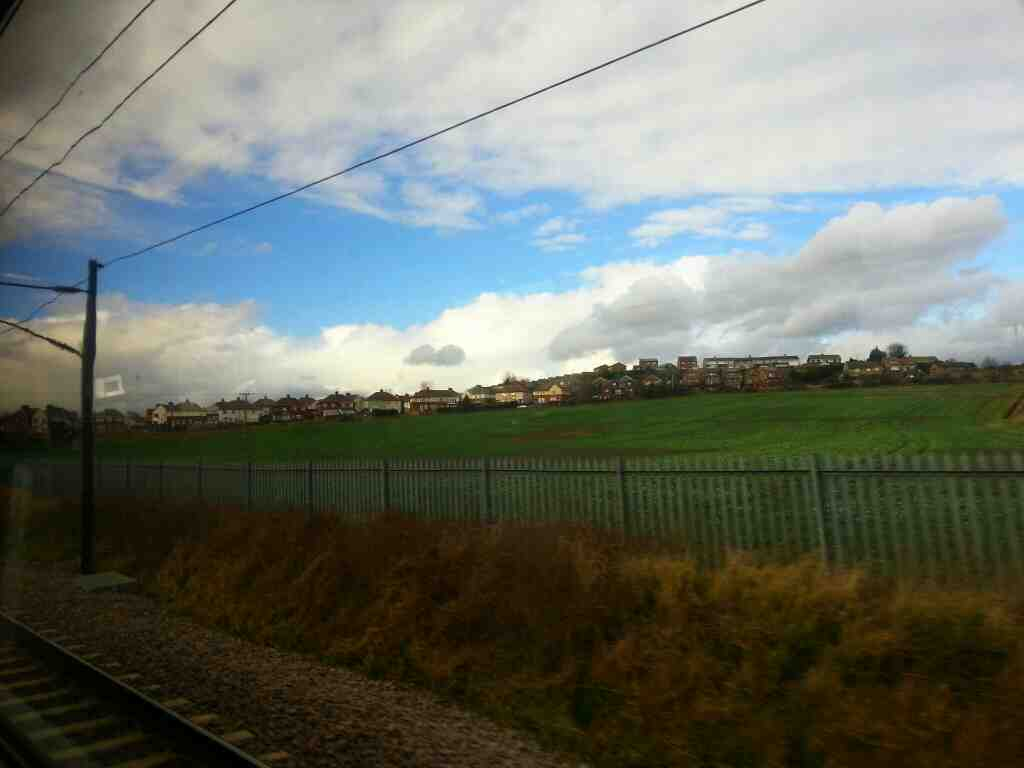 Approaching South Elmsall on a Doncaster to Leeds train