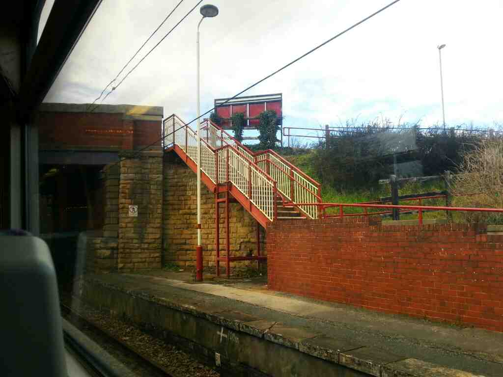South Elmsall West Yorkshire Metro Station off a Doncaster to Leeds train