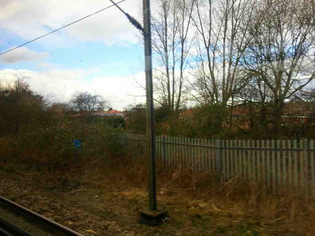 Pulling away from South Elmsall on a Northern Rail Doncaster to Leeds train
