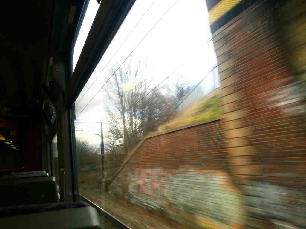 north of South Elmsall on a Doncaster to Leeds Train