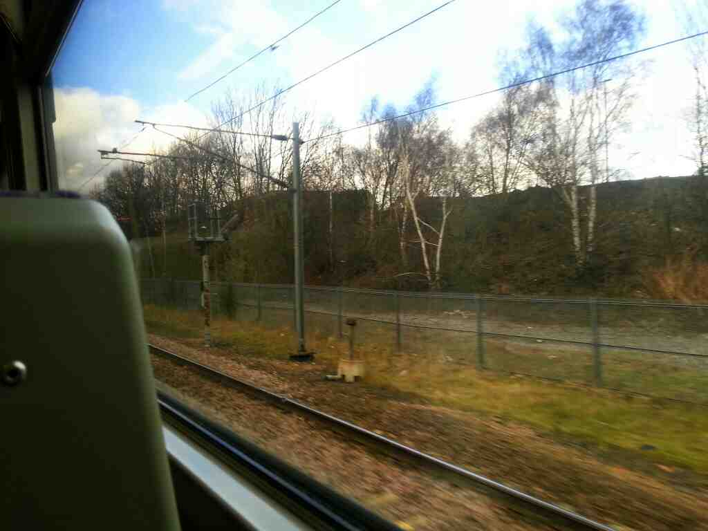 Approaching Fitzwilliam on a Doncaster to Leeds Train