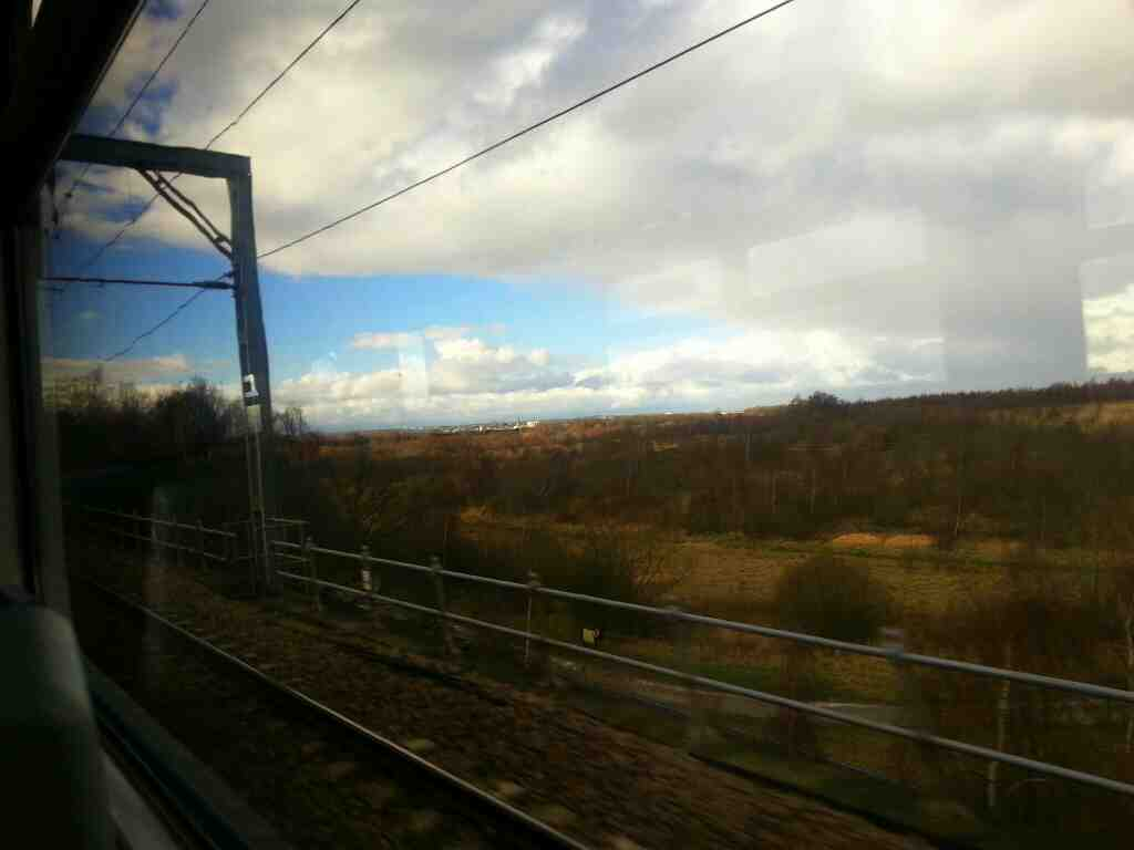 Making our way towards Sandal and Agbrigg on a Doncaster to Leeds train