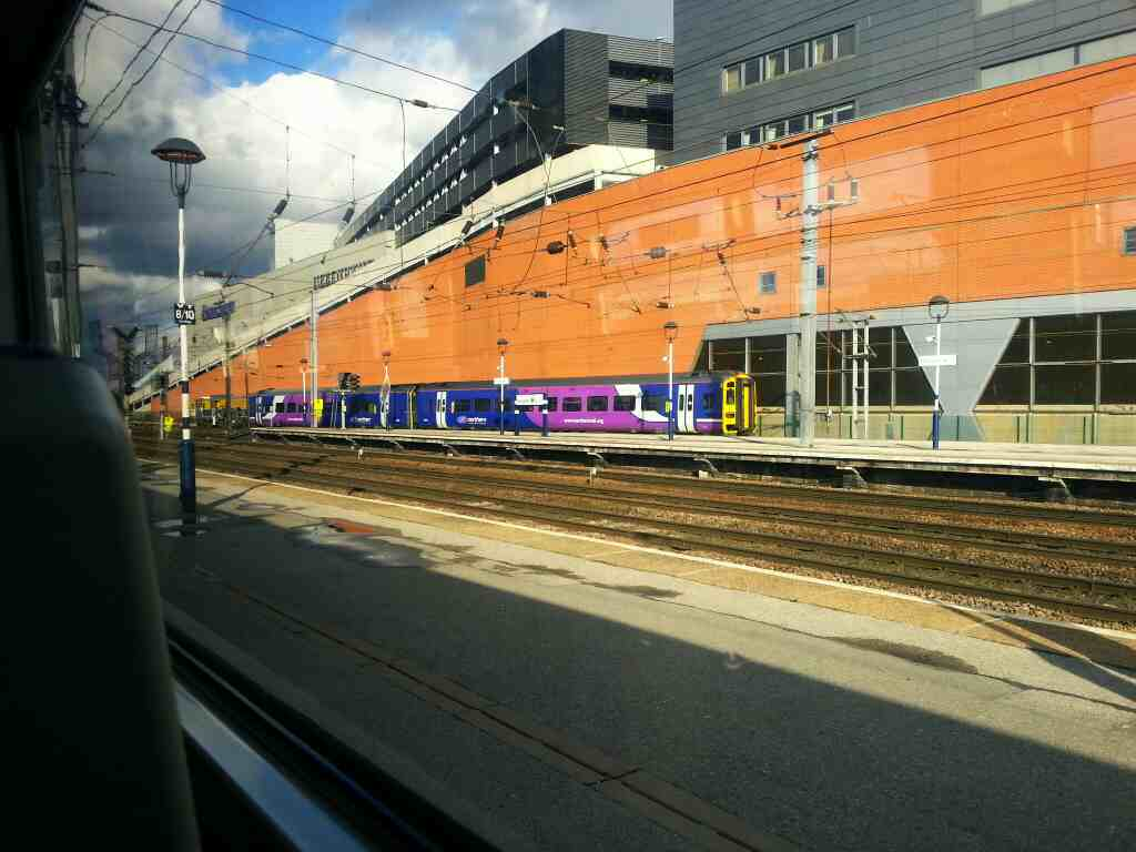 Northern Rail class 158 Service arrives at Doncaster