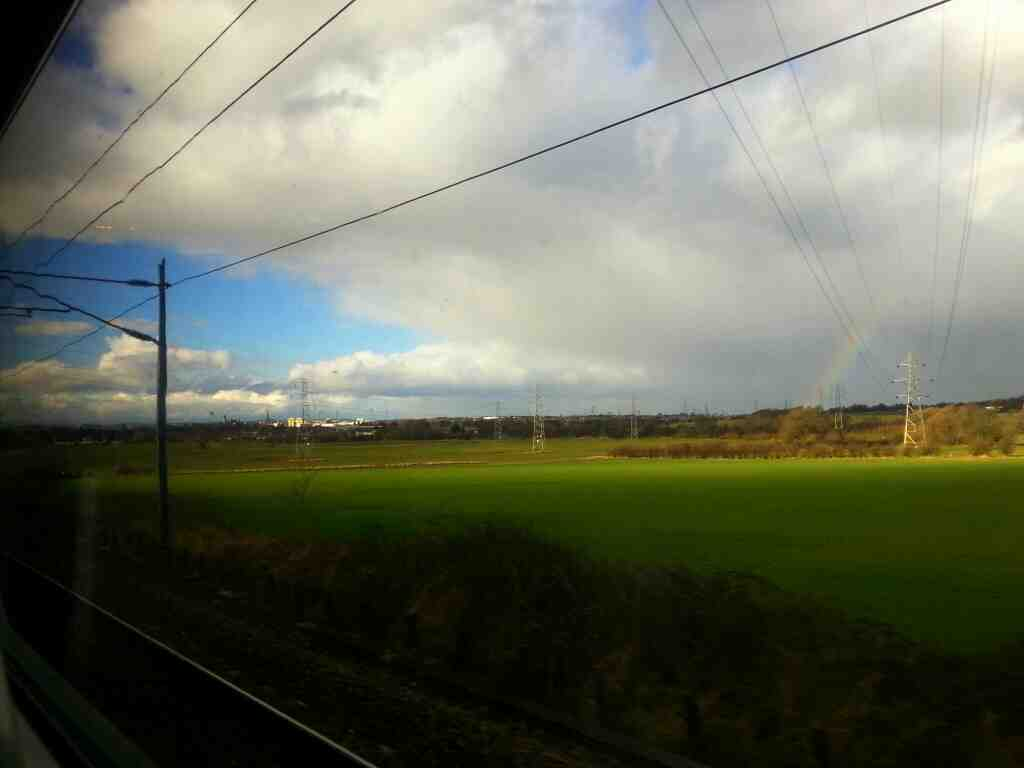Slowing down for Sandal and Agbrigg on a Doncaster to Leeds train