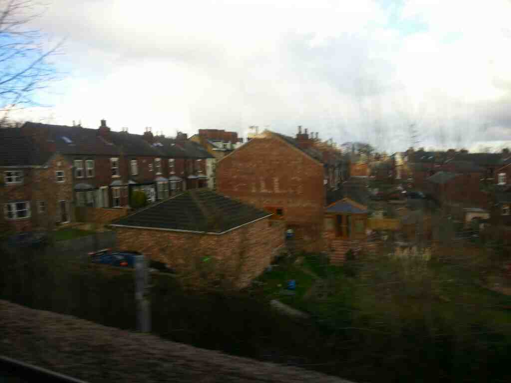 Heading away from Sandal and Agbrigg on a Doncaster to Leeds train