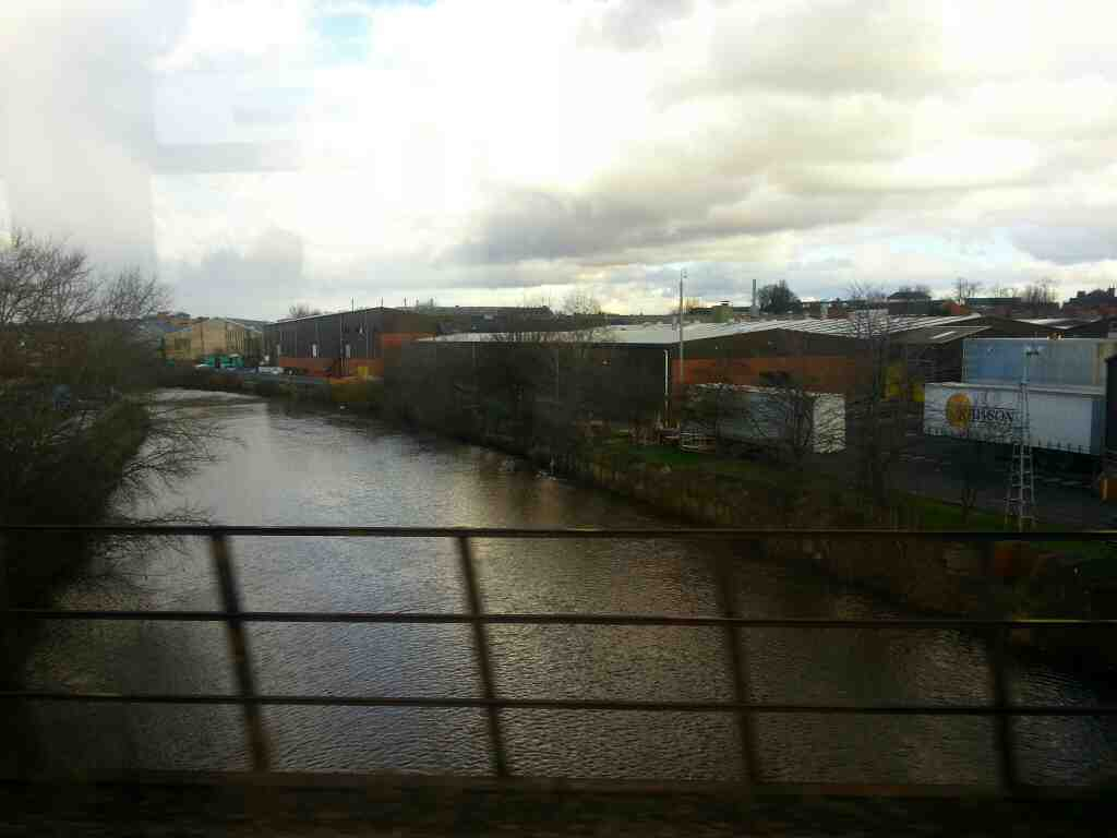 Crossing the River Calder on a Northern Rail Doncaster to Leeds train