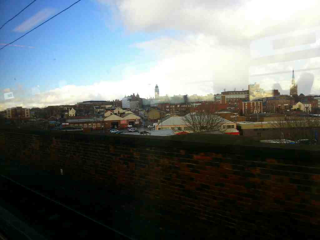 Approaching Wakefield Westgate on a Doncaster to Leeds train