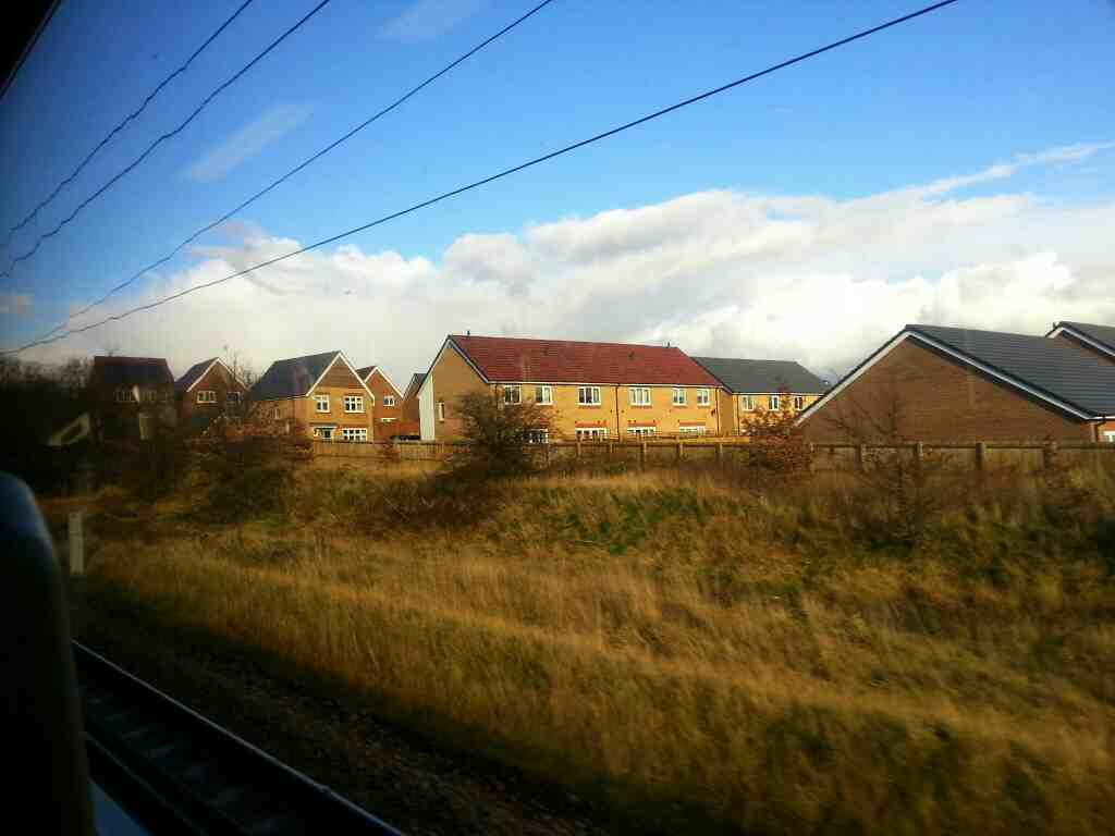Between Wakefield Westgate and Outwood on a Northern Rail Doncaster to Leeds train