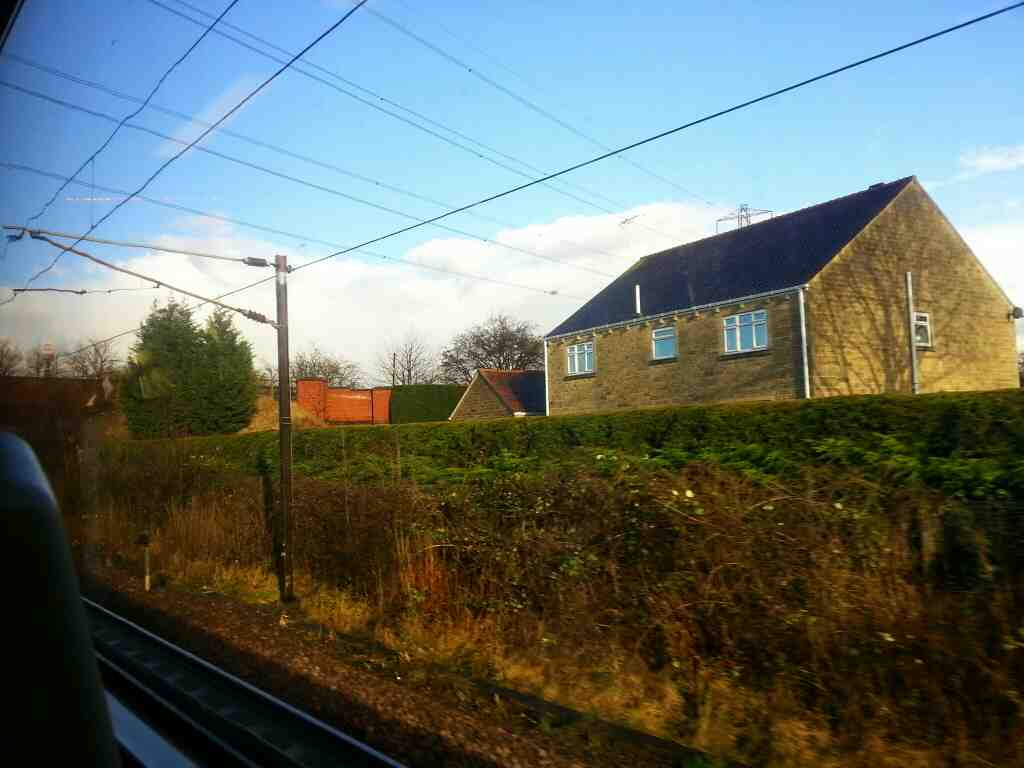 Slowing down for Outwood on a Northern Rail Doncaster to Leeds train