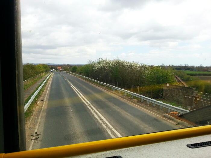 Crossing the Selby to Hull railway on Main Road Gilberdyke