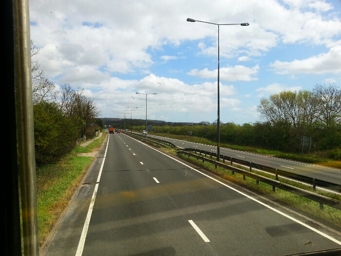 Traveling along the A63