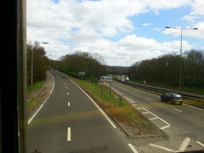 Leaving the A63 East Yorkshire