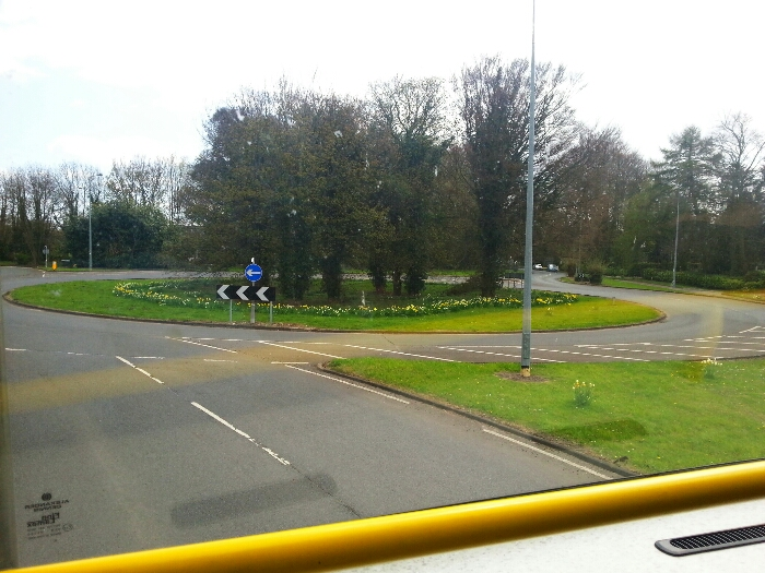 Roundabout at junction of cave road and Stockbridge Road