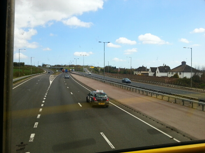 A63 passing the North Ferriby turn