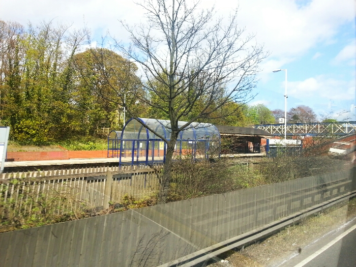 Hessle Railway station from the A63