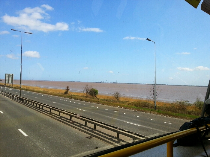 Humber Estuary from the A63 the Clive Sullivan Way