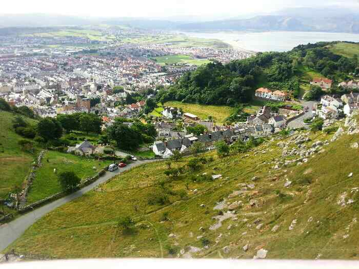 Llandudno 's west shore and the Conwy Estuary come into view