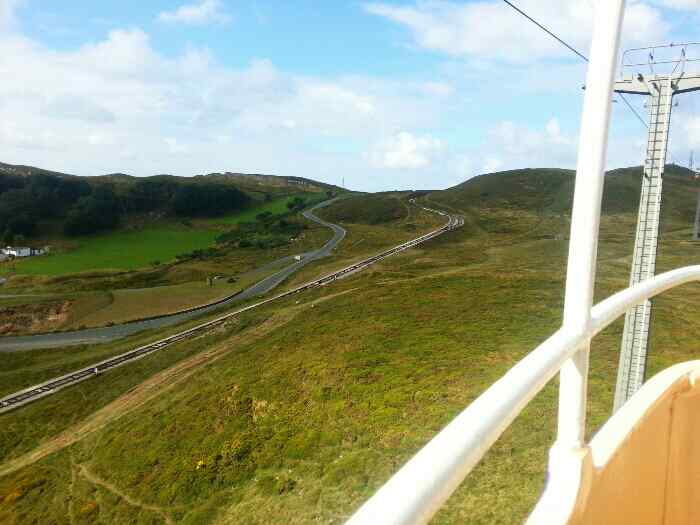 Tram Line and Ty-Gwyn Rd making thier way to the Great Orme Summit