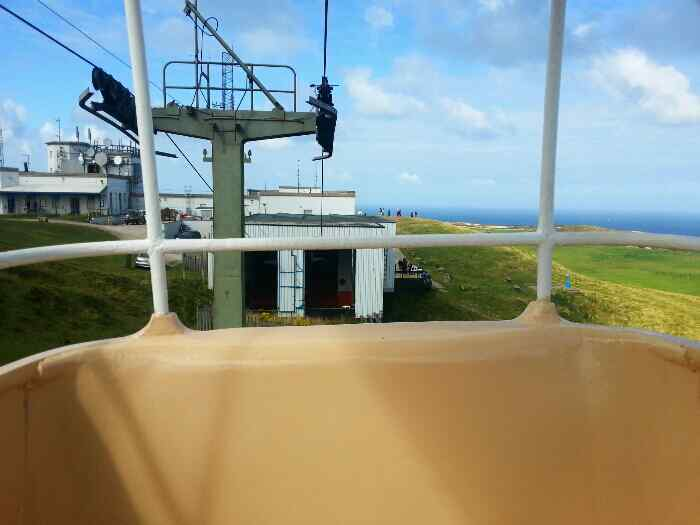 Cable car Approaching summit station Great Orme Llandudno