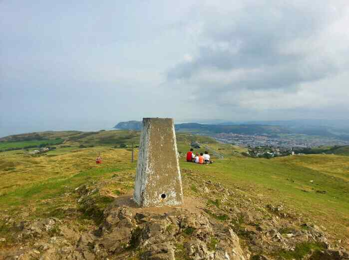 The Trig point at the summit of the Great Orme