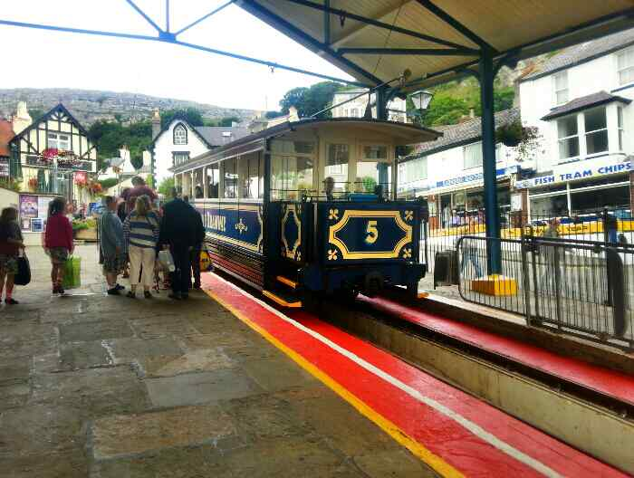 Great Orme Tram Llandudno awating departure
