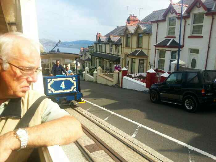 Great Orme Trams passing Ty-Gwyn Rd